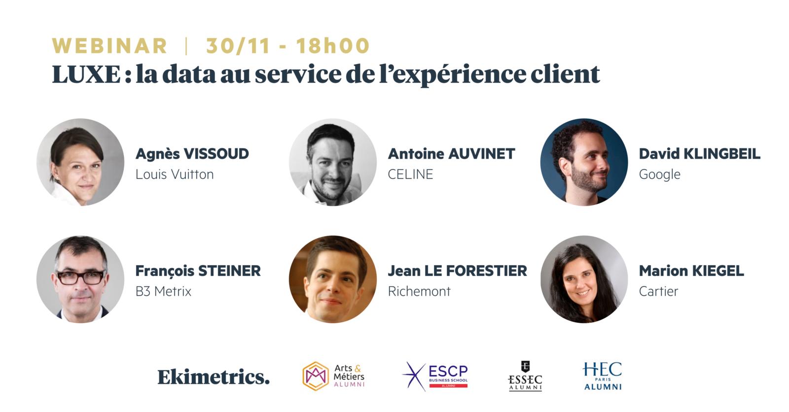 Table ronde «Luxe : la data au service de l'expérience client» : inscrivez-vous !