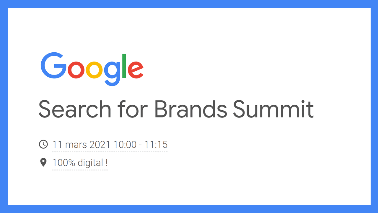 Google Search for Brands Summit